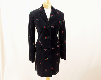 Lilly Pulitzer Jacket * Black Velveteen Jacket * Rose Print Jacket * Black Velveteen Tuxedo Jacket * Long Dress Coat * Medium