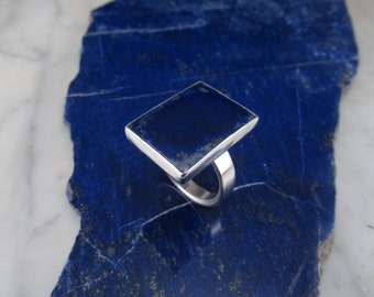 Lapis Ring Sterling Silver Ring Size 11 Mens Ring Sterling Silver Jewelry Lapis Lazuli Jewelry by Thunder Sky Jewelry Philip Troyer Handmade