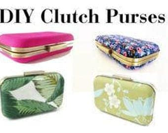 make your own clutch, diy clutch purse, clutch tutorial, diy tutorial, diy purse, diy clutch, kit, DIY clutch purse, clamshell clutch