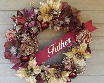Christmas Father Memorial Graveside Wreath