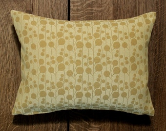 Lumbar Pillow Cover Gold Pillow Botanical Upholstery Fabric Oblong Decorative Pillow Accent Throw Pillow Cover 12x24 12x21 12x18 12x16 10x20