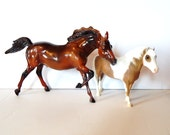 Breyer Horse - Pair of Breyer Horses - Spotted Horse - Brown Horse - Vintage Breyer - Vintage Horse