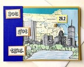 Boston Marathon 26.2 Handmade Skyline Greeting Card - You Got This - for Boston marathon runners, participants - Congratulations, Good Luck