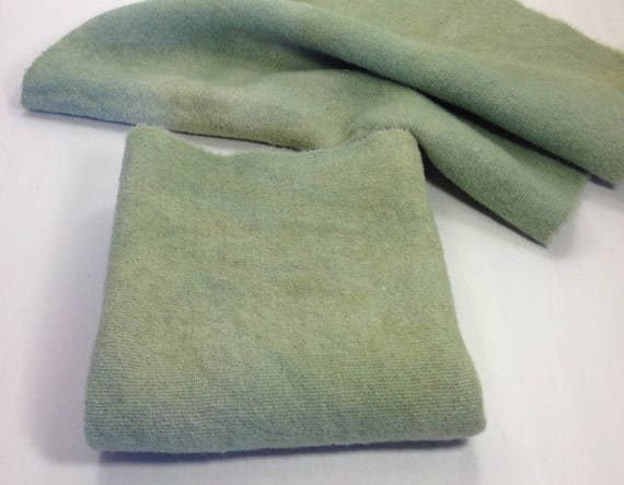 Pastures Green, Hand Dyed Wool Fabric for Rug Hooking & Applique, Fat 1/4 yard, W326, Sage Green, Soft Green, Soothing Green