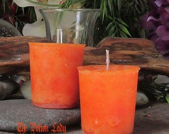 Unscented Orange Pillar and Votive Candles