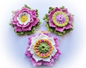 Set of the 3 Crochet Flowers
