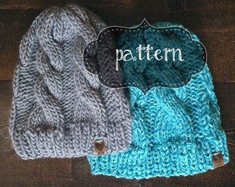 Cabled Toque | Cable Knit | Braided Cable Hat (KNIT PATTERN)