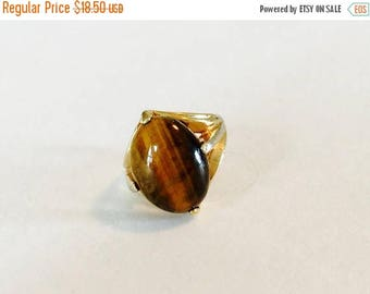 MASSIVE CLEARANCE Vintage 1960s Uniclad Genuine Tigers Eye Ring