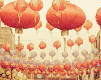 """Chinese Lanterns photography, travel photography, London print - """"Good Fortune Smiles On You"""""""