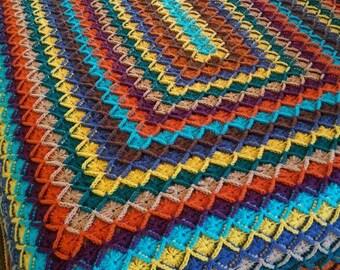 Cozy Jeweled toned afghan