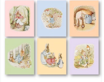 Peter Rabbit Nursery Decor // Baby Nursery Art Prints // Peter Rabbit Nursery Art // Beatrix Potter Art // Peter Rabbit Art PRINTS ONLY