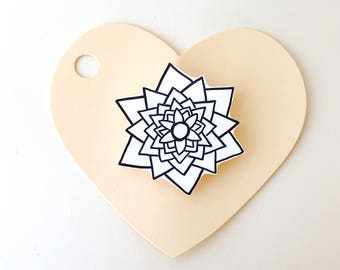 Geometric Flower Shrink Plastic Pin