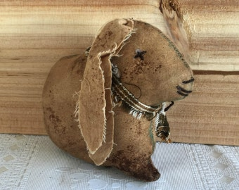 primitive rabbit - primitive lop eared rabbit - primitive country rabbit - lop eared bunny - country primitive rabbit - farmhouse decor