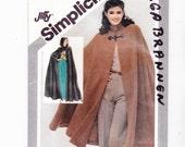 Simplicity  5199 Misses Cape Sizes10-12 (Two Lengths) Vintage Uncut Pattern