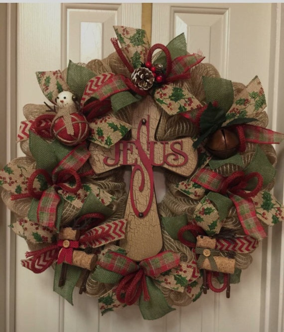 Mesh Wreaths For Christmas