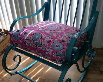 Rocking Chair Cushion in Custom Sizes and Fabrics