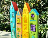 Little wooden painted houses