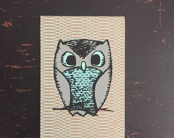Owl Mini Sketchbook, owl notebook, kid's sketchbook, mini notebook, cute notebook, pocket sketchbook