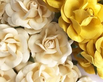 Yellow Wedding Paper Flowers Summer Wedding Favors Summer Wedding Themes. Mustard Yellow DIY Flowers. Yellow Wedding Decorations Wedding DIY
