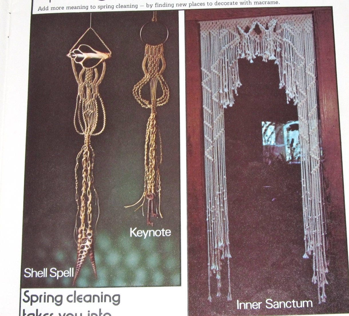 vintage 1970s macrame for all seasons craft instructions book