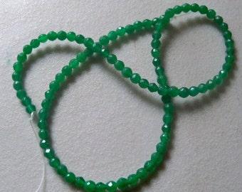 "Emerald Crystal Beads-4mm-15-1/2"" Strand."