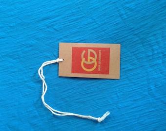 500 kraft hang tags, custom brown tags, brown paper hang tags,clothing price tags