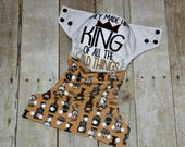 They Made Him King One Size Pocket Cloth Diaper, Reusable Cloth Diaper, One Size Cloth Nappy, One Size Pocket Cloth Diaper, Cloth Diaper