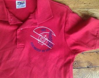 1985 Rickenbacker Air Race  VelvaSheen polo shirt USA large