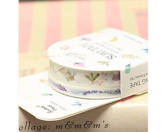 Lavender and Little Leaves Washi Tape Set