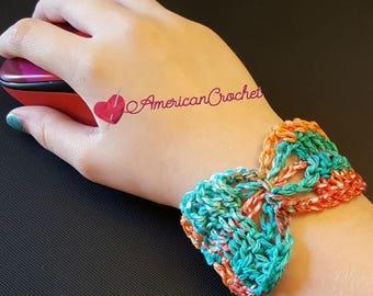 Butterfly Bracelet Crochet Pattern