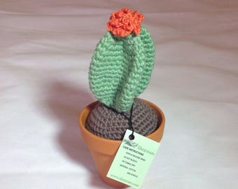 Crochet cactus plant in 9cm ceramic pot