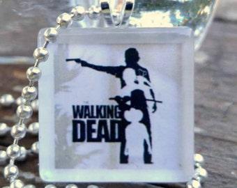 Walking Dead Glass Pendant