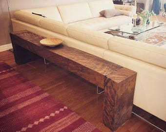 Solid Live Oak Wood Benches and Sofa Tables.