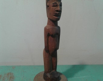 African statue, small wood African figure, hand carved statue African icon, African art, eclectic decor