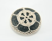 Crochet Stone Pattern, DIY, Lace Stone Cover Pattern, Rock Cozy Pattern, Bullion Beauty, Beach house decor, Tabletop decor, bowl element
