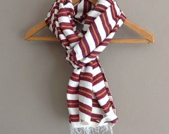 Mens Scarf- Maroon & Cinnamon wool scarf-Burgundy wool scarf  Wraps for Men Man  -wool  and cotton blend scarf Men's fashion