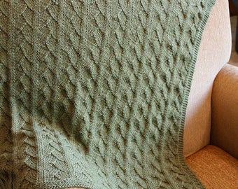 Knitting Pattern: Raishan Baby Blanket
