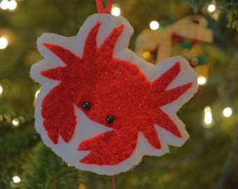 Felt steamed crab ornament