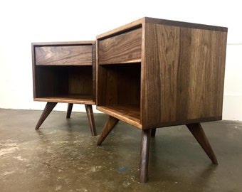 "The ""Dex"" a mid century modern, danish modern nightstand."