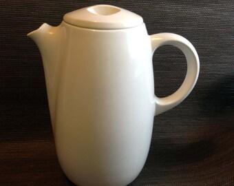 Franciscan Coffee Pot. Eclipse White. RARE. Hollywood Regency, Sputnik, Mid century modern, Danish Modern, Eames era. Deco Vintage 1950