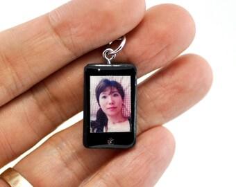 Personalized smartphone miniature Zodiac Keyring  / personalized gift / personalized Keyring