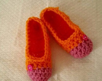 crochet toddler child slippers Pattern Only