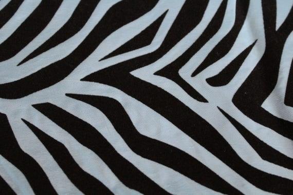 "Zebra Print Fabric,Blue Polyester Velvet Burnout Fabric,Home decor Fabric,Drapery Fabric,Costume Fabric,Crisp Hand,END OF BOLT 1 Yard x 60"""