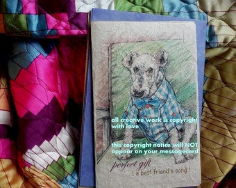 perfect gift  /wire fox terrier/special needs /storybook/personalize/sentimental/ unique empathy condolence/pet sympathy/pet cards