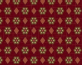 FAB1860-12, Civil War Red Slater Mill Geo, Soldier's Story 2 by Jodi Barrows for Studio E Fabrics, Reproduction Fabric by the Yard