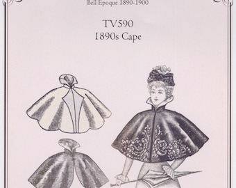 TV590, 1890s Short Cape Sewing Pattern by Truly Victorian