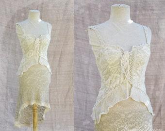 White Rose Garden Cotton Top