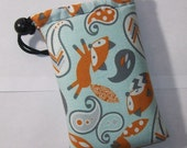 """Padded Pipe Pouch, Fox Pipe Bag, Paisley Pipe Case, Glass Pipe Cozy, Stoner Gift, Cute Pouch, Weed, 420, Smoking Accessory - 5"""" DRAWSTRING"""
