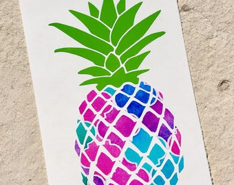 Pineapple Decal, Pineapple Sticker, Custom Decal, Vinyl Decal, MacBook Decal, Yeti Decal, Car Decal, Pattern Vinyl Decal