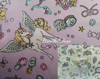 Unicorn, 1/2 yard, pure cotton fabric